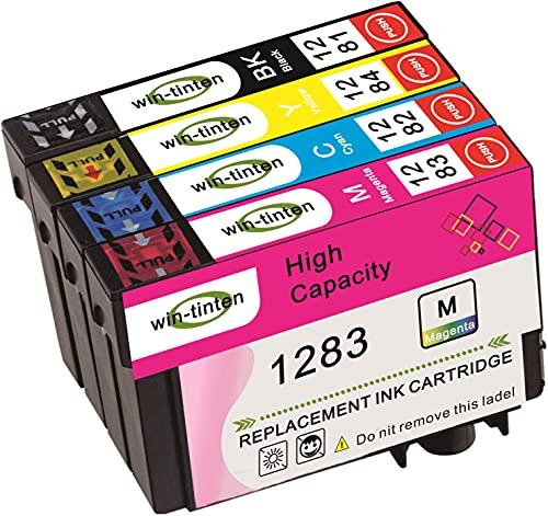 Win-Tinten 4 cartuchos de tinta compatibles con Epson T128XL T1281 T1282 T1283 T1284 para impresoras Epson Stylus SX125 SX235W SX130 S22 SX445W SX438W SX435W SX425W