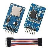 WayinTop DS3231 AT24C32 IIC RTC Module Real Time Clock D'horloge en Temps Réel + Micro SD Carte TF Adater Reader Module SPI Interface Memoire Carte + 10CM 20Pin Mâle à Femelle Jumper Câbles