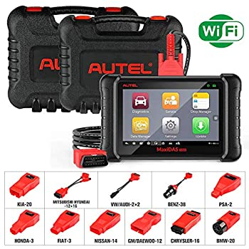 Autel DS808K Automotive Scanner Diagnostic Tool - MaxiDAS DS808 Kit Vehicle Maintenance and Service Tablet for Oil Reset/TPMS Programming/EPB/ABS Bleed/SRS/SAS/DPF/Active Test  Same function as MS906