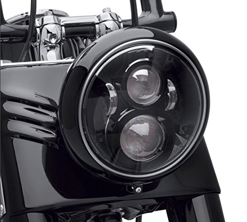 Dot Approved 7Inch Black LED Headlight for Motorcycle Tour,FLD,Softail Heritage,Street Glide,Road King,Electra Glide,Yamaha V-Star Road Star Wrangler