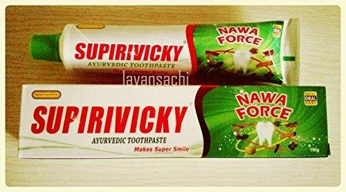 Herbal Ayurveda Toothpaste Siddhalepa Supirivicky Supiriviki Non Fluoridated 110g (3 pack) by Siddhalepa