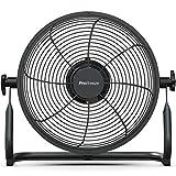 Pro Breeze Ventilatore da Pavimento Ricaricabile 30cm- Durata batteria 4,5-24 ore, Testata regolabile, Porta USB per dispositivi di ricarica, Ventilatore silenzioso leggero e portatile