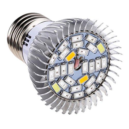 MagiDeal Vollspektrum LED Pflanzenlampe E27 Pflanzenleuchte Pflanzen Wachstumslampe - 10w, 4,7 x 6,3 cm