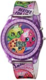 Shopkins Girls' Quartz Watch with Plastic Strap, Purple, 17 (Model: KIN4116)