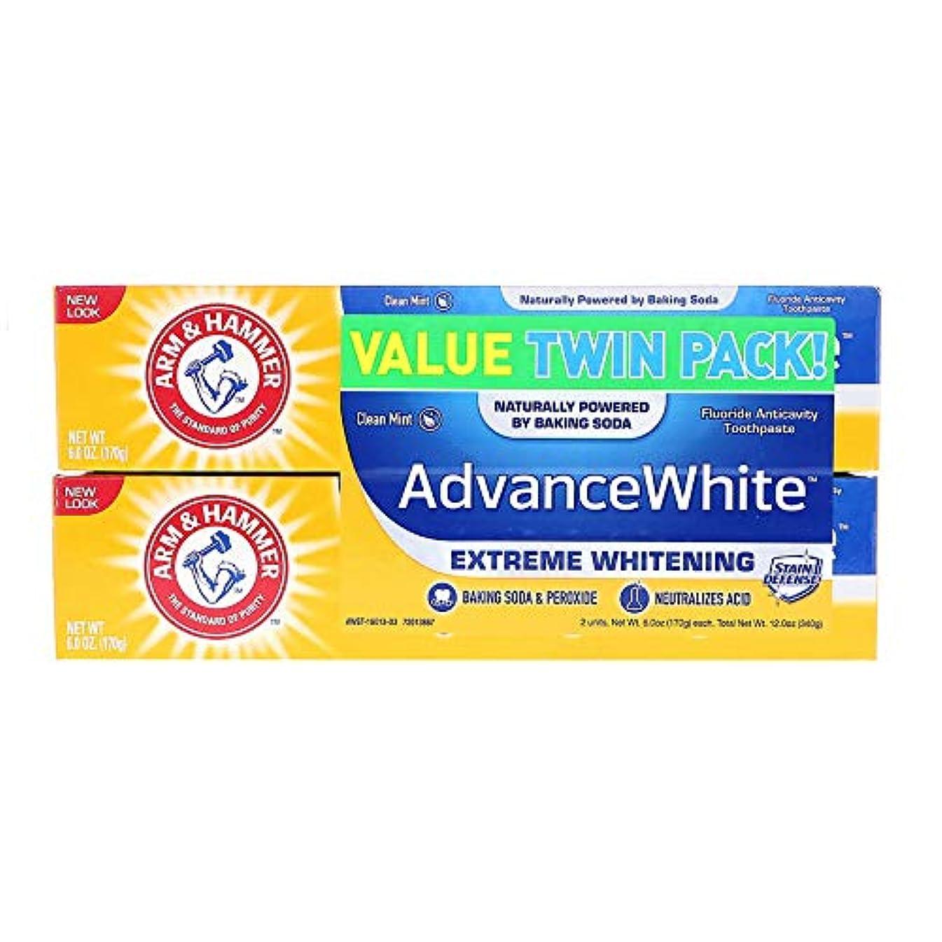 使用法名目上のどうやってArm & Hammer アーム&ハマー アドバンス ホワイト 歯磨き粉 8個パック Toothpaste with Baking Soda & Peroxide