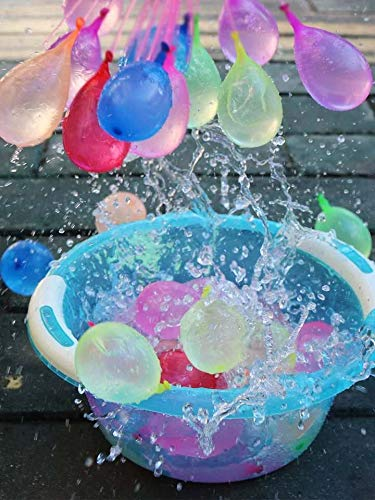 Lim 111PCS Water Balloons Wasserbomben in 60Sekunden - selbstschließend ohne Knoten Wasserballons Kurzzeitig...