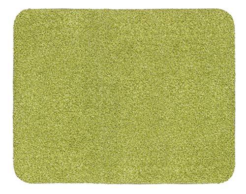 ASTRA waschbarer Fußabstreifer Baumwolle – saugstarker Sauberlauf Entra – rutschfeste Matte – (60 x 75 cm – grün)