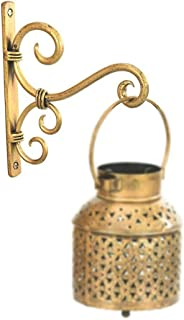 ARTS Crafties Golden Antique Wall Bracket for Bird Feeders & Houses Planters Lanterns Wind Chimes Hanging Baskets Ornament...