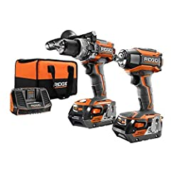 Brushless motor technology gives you longer motor life and running time 3-speed settings on the impact driver provides power for whatever project you're working on Hammer drill delivers a 700 in. lbs. of torque Impact driver delivers a 2,250 in. lbs....