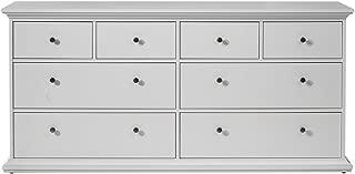 Tvilum Sonoma 8 Drawer Double Dresser in White