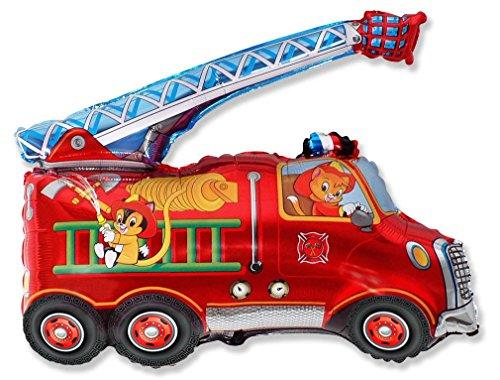 Ballonim® Feuerwehrauto ca. 80cm Luftballons Folienballon Party DekorationGeburtstag