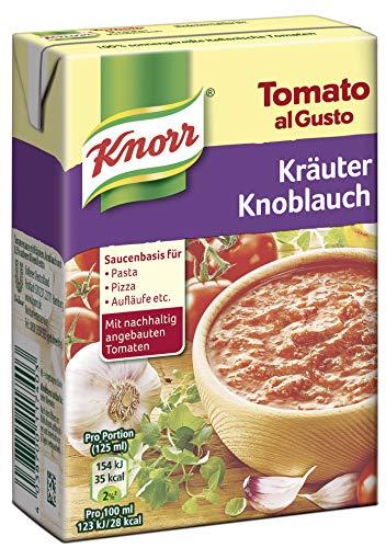 Knorr Tomato al Gusto Kräuter Knoblauch Soße, 1er-Pack (1 x 370 g)
