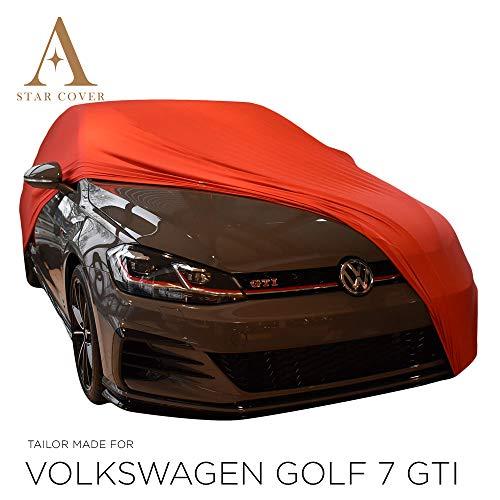 AUTOABDECKUNG ROT PASSEND FÜR Volkswagen Golf 7 GTI INNEN SCHUTZHÜLLE ABDECKPLANE SCHUTZDECKE VOLLGARAGE Cover