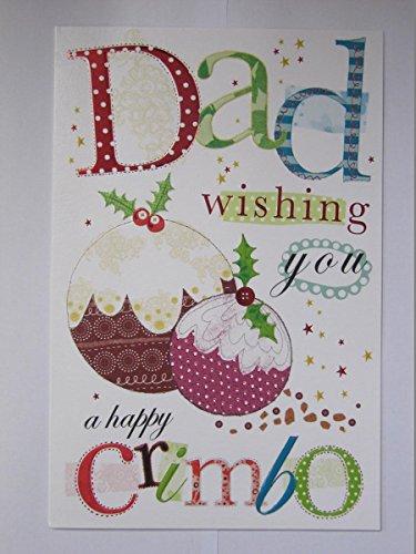 WONDERFUL COLOURFUL EMBOSSED DAD wensen u een gelukkige kerst groeten kaart