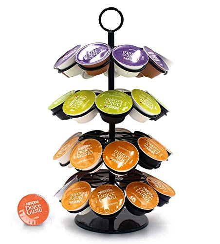 Porta capsule caffè Dolce Gusto,Caffè capsule Dolce Gusto holder-36 capsule, porta capsule girevoli 360°Compatibile con capsule caffè Dolce Gusto