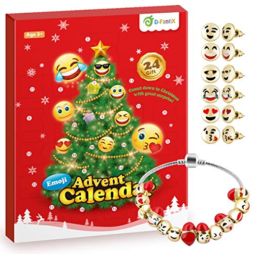 D-FantiX Girls Advent Calendar 2020, Charm Bracelet Advent Calendar DIY Jewelry Countdown to Christmas Advent Calendars for Kids Children Teen Women
