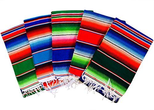 meximart 's ® Authentic Medium mexikanischen Decken bunt SARAPE Decken sortiert 203,2x 121,9cm