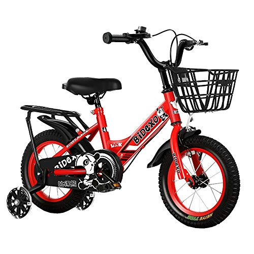 FUFU Children's Bicycle 12-18 Inch Boys and Girls Bicycle, Outdoor Bicycle, Suitable for Children Aged 2-14 (Color : Red, Size : 12in)