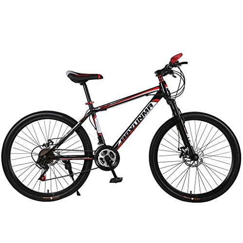 cobcob Mountain Bike, 21 Speed 26 inch Full Dual-Suspension Mountain Bike Youth and Adult Mountain Bike Bicycle Outdoor Cycling Dual Disc Brake for Men/Women-Multiple Colors (Red)