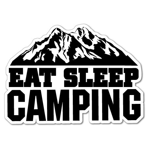Eat Sleep Camping Adventure 4x4 Caravan Sticker Decal Surfboard Vintage Skate Surf