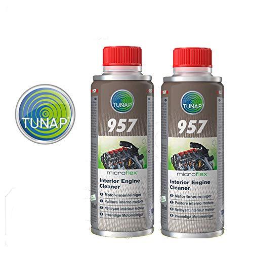 Tunap 157 Micro Logic Premium - Pulitore Interno Motore pulizia del circuito di lubrificazione - 200mL x 2 pezzi