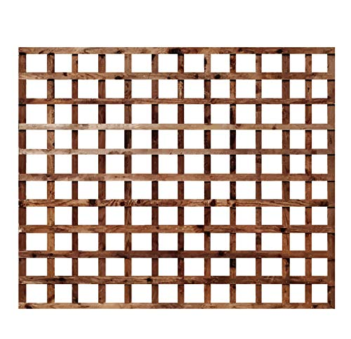 Weatherwell Square Garden Trellis Pressure Treated Timber Garden 6ft (6ft x 5ft)