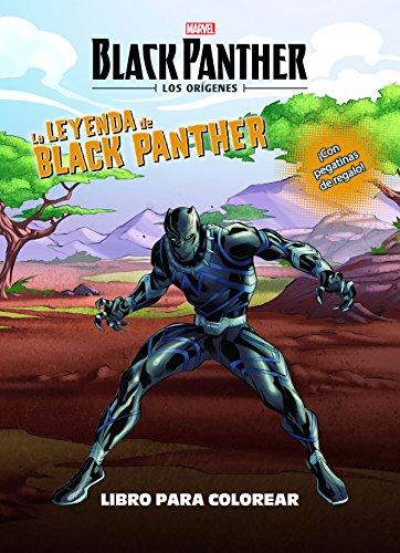 Black Panther. Los orígenes. La leyenda de Black Panther. Libro para colorear: ¡Con pegatinas de regalo! (Marvel. Los Vengadores)