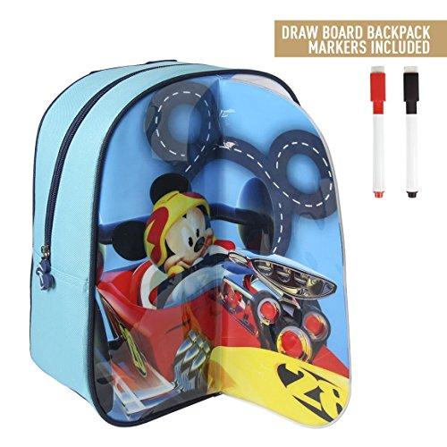 takestop® rugzak/rugzak voor kinderen, motief Mickey Mouse Micky Mouse Disney tas 31 cm Mare Strand Scuola Scrivere Pranzo kinderen