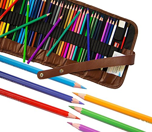 Colored Pencils for Adults and Kids! 48 Bright Artist Grade Coloring Pencils, Best For Adult Coloring Pages & As Water Color Art Pencils, Free Accessories & E-Book, Unconditional Happiness Guarantee!