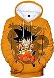 PANOZON Sudadera Goku Bola de Dragón para Hombre Hoodie de Dragon Ball Figuras de Anime Camiseta Mangas Largas (3XL, 02 Goku-1)