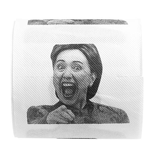 1 Roll Laughing Hillary Clinton Toilet Paper,Funny Prank Joke Gift,Home Party Supplies