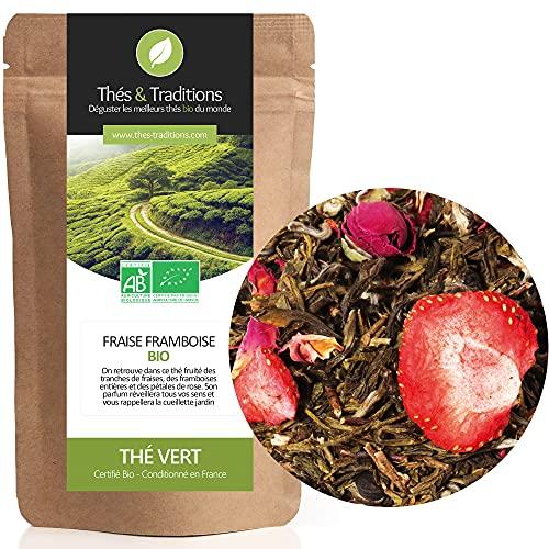Thés & Traditions - Organici Tè Verde Lampone Fragola - Jiangkou | 100g