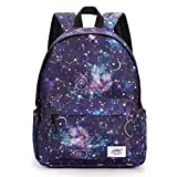 School backpack for Girls Boys,Galaxy Water Resistant Durable Casual...