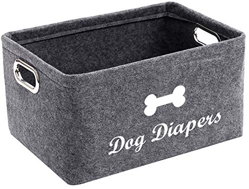 Geyecete Dog luiers Opbergmandje Decoratief Geweven Katoen Touw Mand, Witte Mand Organizer voor Hond Luier, speelgoed, hond kleding en andere kleine sundries