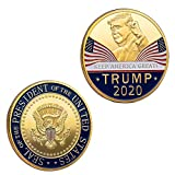 2 Pcs Trump Coin 2020 Keep America Great - United States Presidential Challenge Coin Collectibles Gift