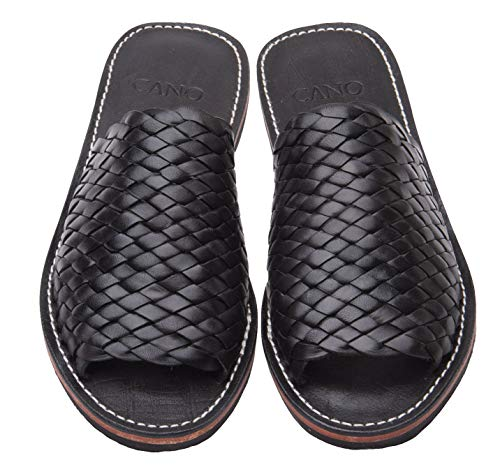 Cano Mexico - Sandalias de piel ecológica, color Negro, talla 36 EU