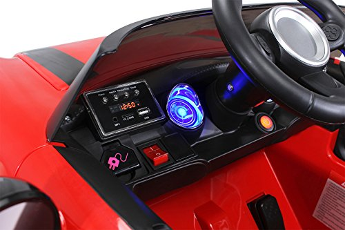 RC Auto kaufen Kinderauto Bild 2: Actionbikes Motors Kinder Elektroauto Mini Cooper Eva Reifen Ledersitz Kinderfahrzeug Kinderauto in vielen Farben (Rot)*