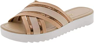 Sandália Feminina Salto Baixo Dakota - Z4421 Bronze