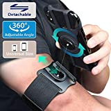 Running Phone Wristband Armband, 2 in 1 Arm Band Wrist Band with Extend Strap for Exercise Workout Gym Walking Jogging (Black, fits for 4.0'' -- 7.0'')