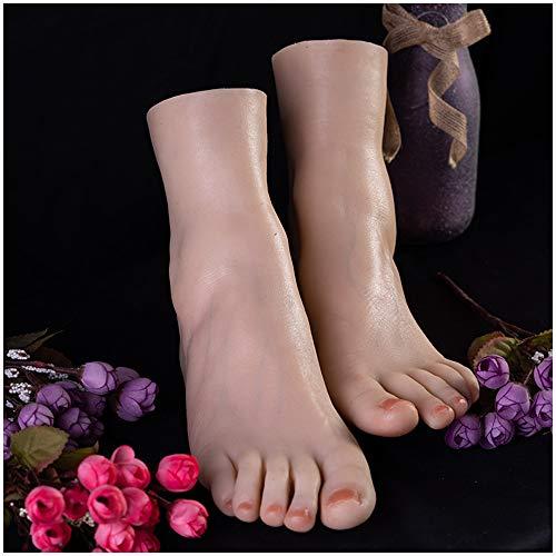 FXQ 1 Par Mujer de Silicona del pie Pies Modelo - Pies de Silicona Modelo tamaño Natural Mujer Pies Maniquí de pie para los Zapatos Modelo de la exhibición del Arte del Bosquejo