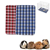 ASOCEA Lot de 2 tapis absorbants pour cage de cochon d'Inde réutilisables lavables et absorbants pour petits animaux de compagnie pour chinchillas lapins chats chiens reptiles et autres petits animaux