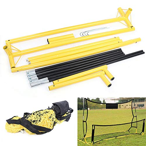 Sport-Tec - Red de rebote para fútbol, color amarillo y negro