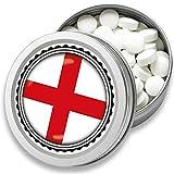 FAN Mint | 3er Set Pfefferminz Bonbons mit England Flagge | Geschenk, Souvenir England Fahne | Bonbon-Dose, Fan-Artikel, Party Deko (England)