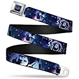 Buckle-Down Seatbelt Belt - Buzz Lightyear Poses Galaxy Blues - 1.0' Wide - 20-36 Inches in Length