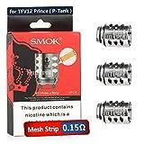 SMOK TFV12 Prince Coils, Mesh 0.15 ohm, for TFV12 Prince / TFV12 P-Tank, 3pcs - No Nicotine