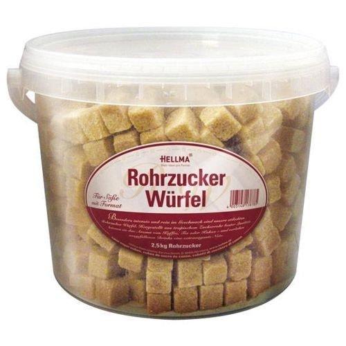 Hellma Rohrzucker-Würfel Eimer 2 x 2 kg