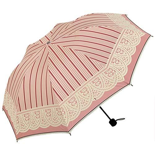 YYhkeby Umbrella Umbrella Plegable Gafas de Sol Vinilo Protección UV Protección Umbrella Goddess Pequeño Fresco (Color: H) Jialele (Color : D)