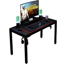 Need Gaming Table Black All-in-One Gaming Desk with RGB LED Soft Gaming Mouse Pad 120 cm Length Computer Desk AC14CB-120 60