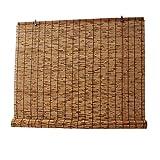 Tapparella a carrucola in Bamboo,Tenda A Rullo Bamboo, Veneziana Per Finestre, Avvolgibile Bamboo, Tessuto A Mano, Tenda Da Sole, Isolamento Termico, Per Finestre Tende A Lamelle Da Giardino(Size: 110