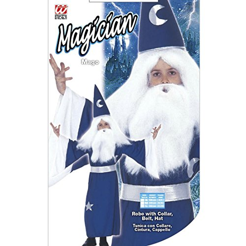 Amakando Disfraz de mago para nios de 140 cm, 8  10 aos, disfraz de mago de Merlin, disfraz de mago, Gandalf, disfraz de carnaval, disfraz de cuento de hadas, para cumpleaos infantiles